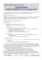 Conseil municipal du 19 Novembre 2020