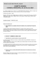 Conseil municipal du 24 fevrier 2021
