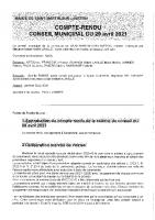 Conseil munnicipal du 29 avril 2021