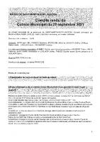 Conseil municipal du 23 septembre 2021